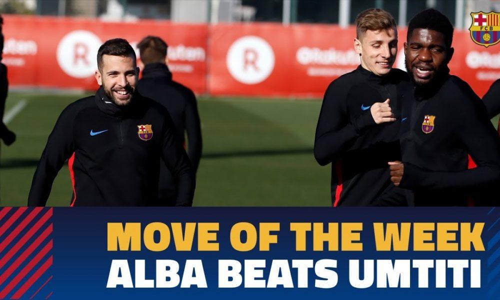 Levizja e javës te Barcelona  Jordi Alba mposht Umtiti